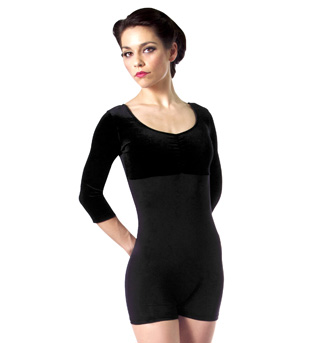 Adult 3/4 Sleeve Two-Tone Biketard - Style No 87874