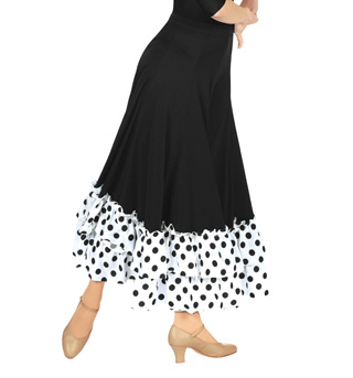 Adult Flamenco Skirt with Ruffle - Style No 9100PDR