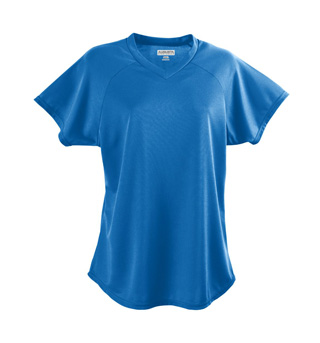 Ladies Short Sleeve V-Neck Jersey - Style No AUG571