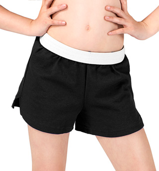 Child Elastic Waist Dance Shorts - Style No B037