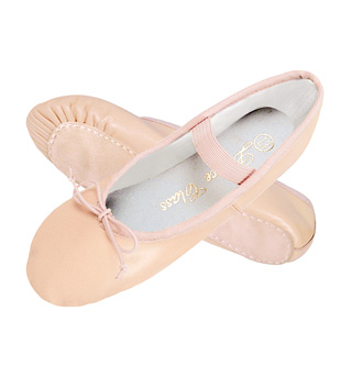 Child Leather Full Sole Ballet Slipper - Style No B401