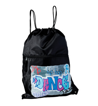 Graffiti Drawstring Backpack - Style No B920