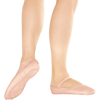 Child Premium Leather Full Sole Ballet Slippers - Style No BA14C