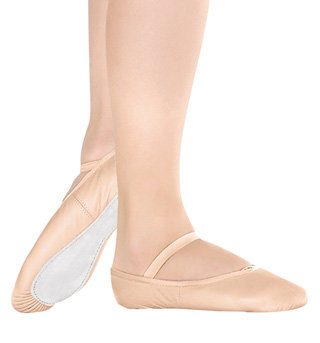 Girls Leather Full Sole Ballet Slippers - Style No BA90C