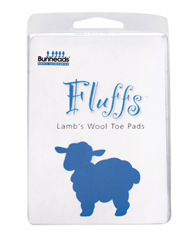 Fluffs Lambs Wool Toe Pad - Style No BH405x
