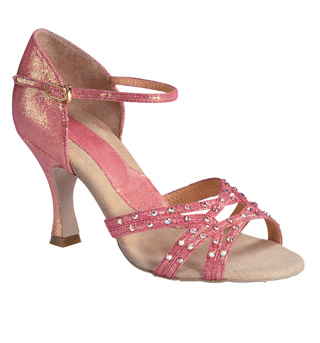 "Ladies ""Crystal Katusha"" 3"" Latin/Rhythm Ballroom Shoe - Style No BR138R"