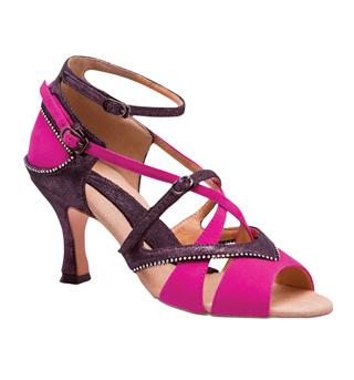 "Ladies ""Crystal Lorelei"" 2.5"" Latin/Rhythm Ballroom Shoe - Style No BR415R"