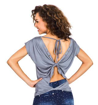 Open Back Top with Grommet Accents - Style No C3445