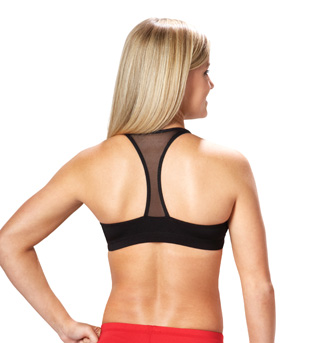 Adult Mesh T-Back Crop Top - Style No CB101