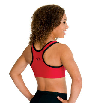 Child Racer Back Cheer Crop Top - Style No CB130C
