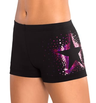 "Child ""Berry Sequinz"" Star Cheer Short - Style No CB535C"