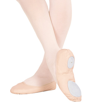 Girl's Leather Split-Sole Ballet Slipper - Style No CG2002Cx