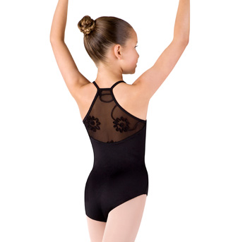 Girls Camisole Swirl Tulle Racer Back Leotard - Style No CL4070