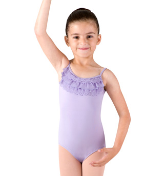 Girls Camisole Frill Front Leotard - Style No CL7360