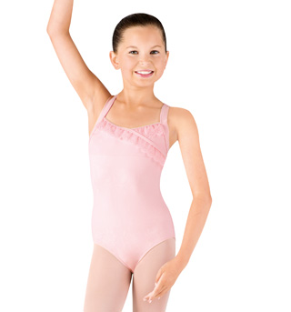 Girls Tank Mock Wrap Leotard - Style No CL7375