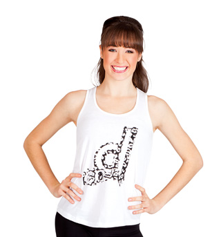 Screened Slash Back Tank Top - Style No CO207x