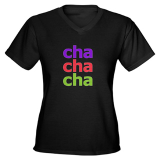 Women Cha Cha Cha V-Neck T-Shirt - Style No CP315