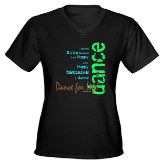 Women Dance for Life V-Neck T-Shirt - Style No CP757