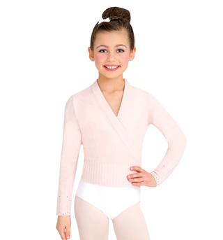 Child Classic Knit Wrap Sweater - Style No CS301C
