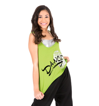 Adult Relaxed Graphic Tank Top - Style No D110