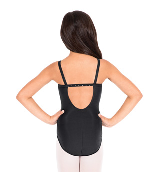 Child Rhinestone Back Camisole Leotard - Style No D192