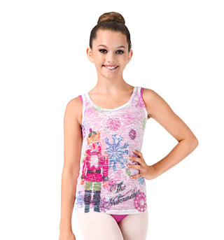 Girls Nutcracker Burnout Tank Top - Style No DA320C
