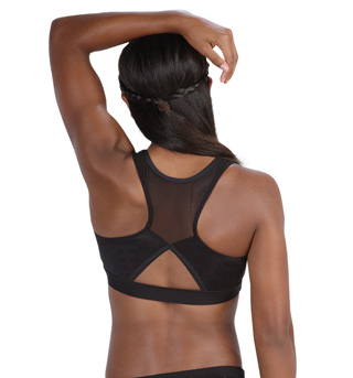 Adult Mesh Open Back Racer Bra Top - Style No DB410