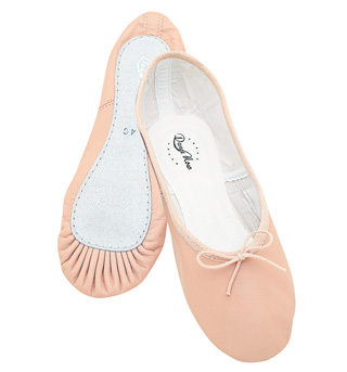Child Leather Full Sole Ballet Slipper - Style No DN960G