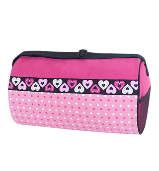 Dotz n Hearts Pattern Duffle Bag - Style No DTZ02B