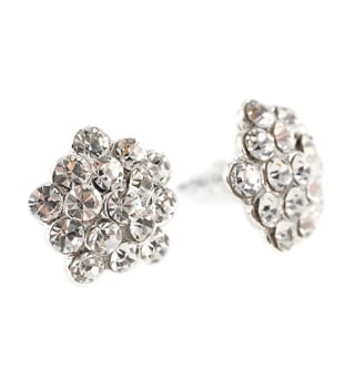 15mm Rhinestone Cluster Earrings - Style No EPS