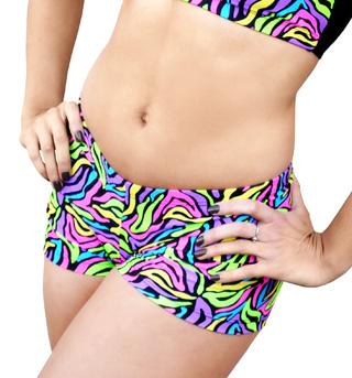 Adult Neon Zebra Short - Style No FD0115