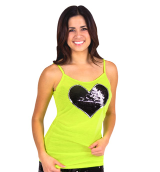 Adult Sequin Heart Camisole Top - Style No FD0143