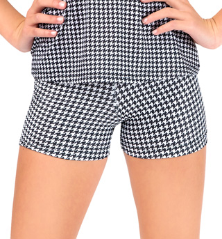 Child Houndstooth Dance Short - Style No FD0163C
