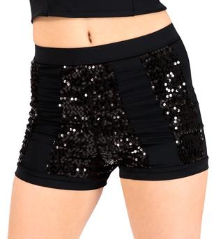 Adult High Waist Sequin Stripe Dance Short - Style No FD0181