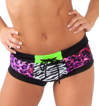 Adult Color Block Brief Dance Shorts - Style No FD0194
