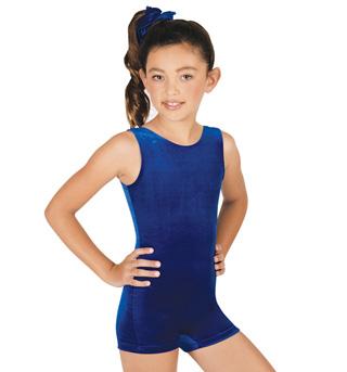 Child Basic Velvet Biketard - Style No G506C