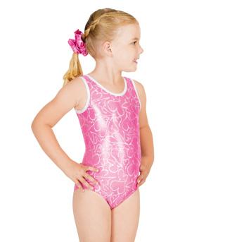 Child Gymnastic Heart Tank Leotard - Style No G514C