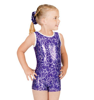 Child Gymnastic Heart Biketard - Style No G515C