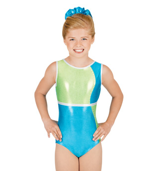 Child Color Block Tank Leotard - Style No G522C