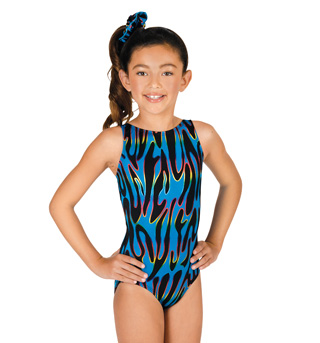 Child Gymnastic Side Swirl Tank Leotard - Style No G532Cx