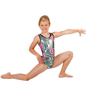 Child Gymnastic Swirl Tank Leotard - Style No G534Cx