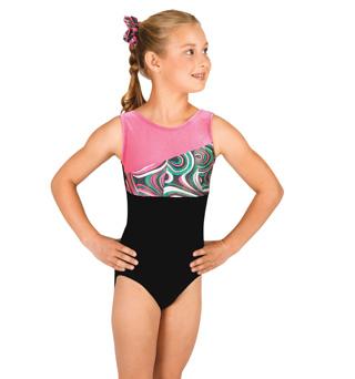 Child Gymnastic Spliced Tank Leotard - Style No G535Cx