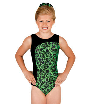 Child Gymnastic Boat Neck Leotard - Style No G536Cx