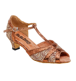 Ladies Latin/Rhythm Ballroom Shoe w/1.3 Inch Heel - Style No GO730