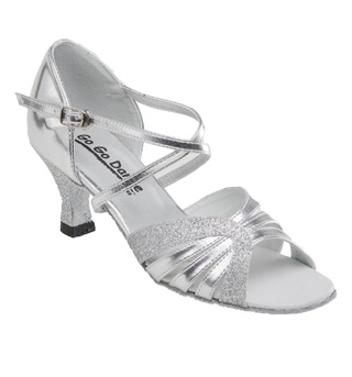 Ladies Latin/Rhythm Ballroom Shoe w/2.5 Inch Heels - Style No GO979