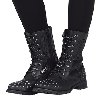 Girls Studz Combat Boot - Style No GS11C