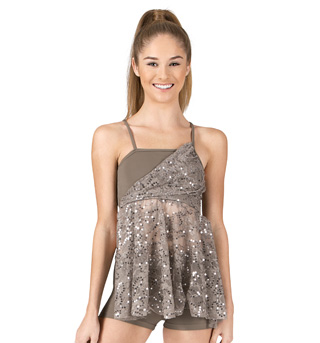 Adult/Girls Camisole Sequin Lace Baby Doll Top & Shorts Set - Style No ING27x