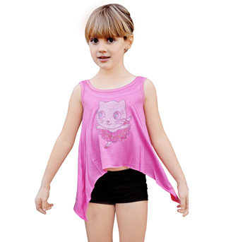 Child Ballerina Kitty Tank Top - Style No K5082