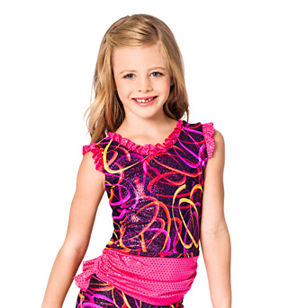 Child Pink Swirl Open Back Tank Top - Style No K5094