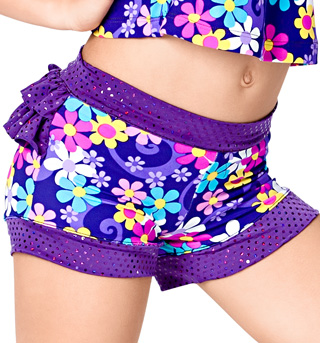 Child Flower Power Booty Ruffle Short - Style No K5095